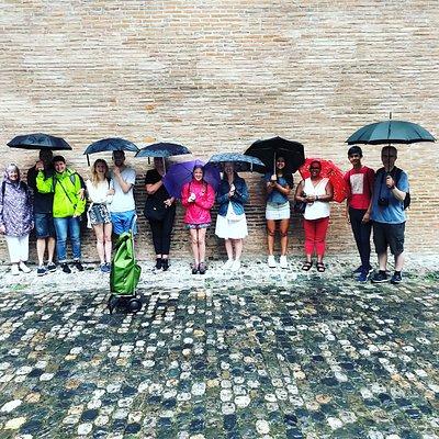 Even in the rain we have fun!