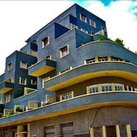 Art Deco apartment building, built in 1938 or 1939 & designed by the famous Cuban architect Manuel Carrerá.