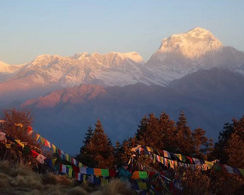 PoonHill: Hill station offering the panoramic view of Annapurna and Dhawalagiri mountain range.   This spot is often a trekking destination itself or short pass-by on the Annapurna Base Camp or Circuit trek.