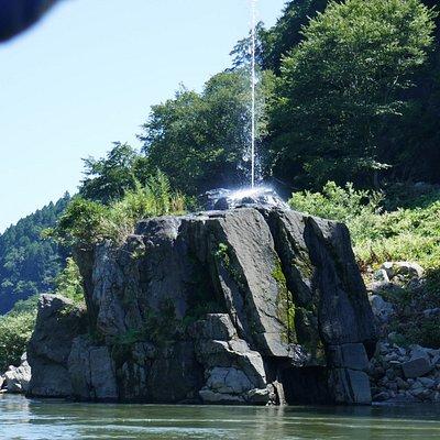 唯一の見どころ「弘法の噴水」