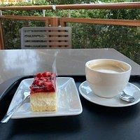 Goed terras en heerlijke taart