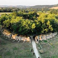 Vista dal drone dell'Anfiteatro romano