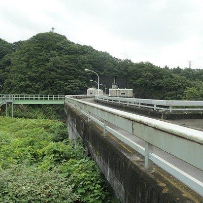 塩原温泉郷の中にあるダムで、もみじ谷大吊橋を渡った先にありました。