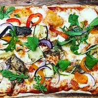 Our new vegetable pizza
