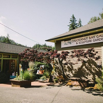 Chuckanut Bay Gallery and Sculpture Garden in Bellingham, WA. We sell a wide variety of garden art, sculptures, handmade items, hand blown glass, home decor, furniture, bird baths, water fountains, metal art, and jewelry.