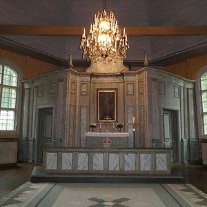 Altardelen i Gustav Adolf Kyrka i Gustav Adolf utanför Hagfors