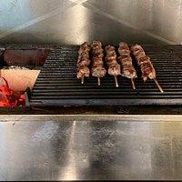 Freshly grilled Greek Food:)!!!