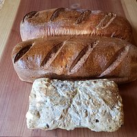 French, Wheat, and Olive Walnut Bread