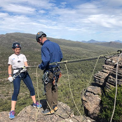 Our BIG 60-meter abseil can test the nerves!