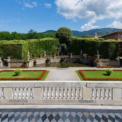 Veduta dalla Terrazza di Villa reale sul Teatro d'Acqua - Foto pgmedia.it