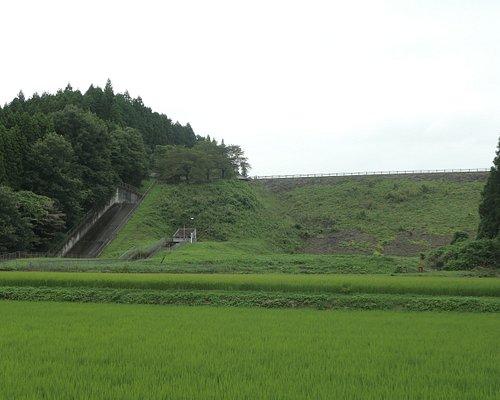 堤体の下には川ではなく田んぼがあります。