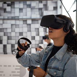 Joueurs VR en pleine action