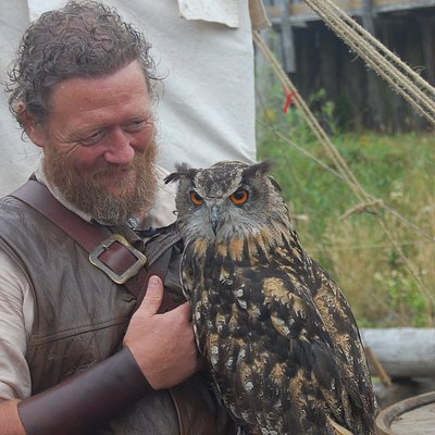 One of the members with an Eagle Owl.