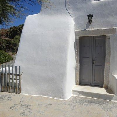 Zoodochou Pigis church in the gulf of Naoussa - Paros, Greece