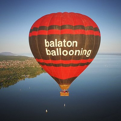 Flying over Lake Balaton