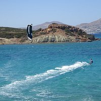Stefano Beach in the gulf of Naoussa - Paros, Greece