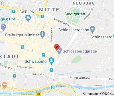 Lageplan Rama Thai Massage Freiburg, Konviktstr. 21, 79098 Freiburg