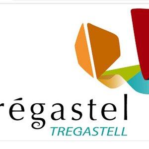 Logo Trégastel inspiré du Rocher Le Dé.