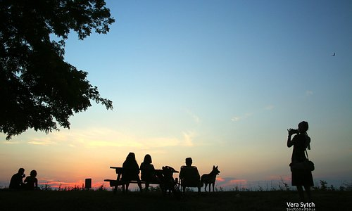 Sandbar Park is a popular place to watch the sunset over Lake Ontario