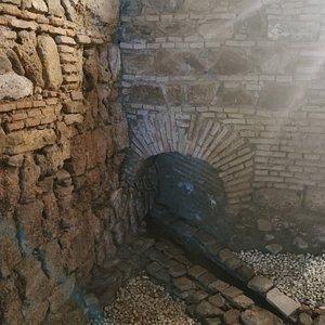 Restos de la muralla de Málaga.