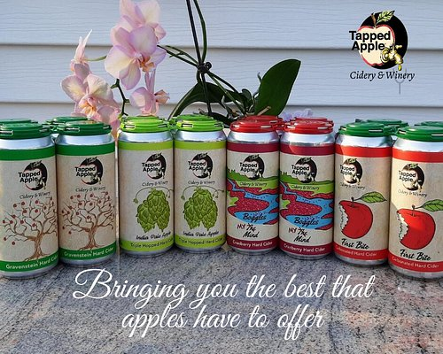 Hard Cider in cans, available in our Tasting Room and local Package store.
