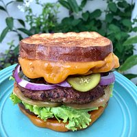 Double Grilled Cheese Burger