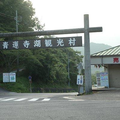 青蓮寺ダムへ向かう道の入口