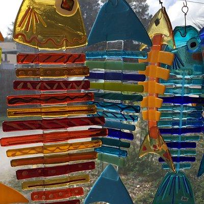 Fused Glass Bonefish