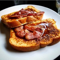 Our French Toast with Bacon & Maple Syrup