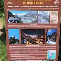Accesso sentiero e passerella panoramica Orrido Pre S. Didier