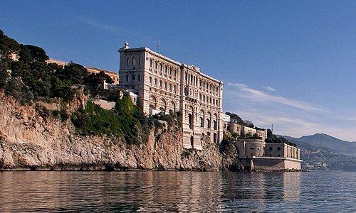 Façade mer du Musée océanographique de Monaco
