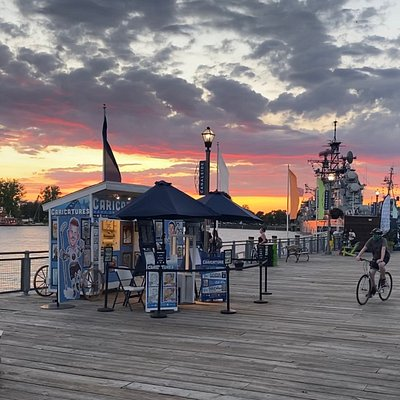 Beautiful Sunsets are routine at Canalside.