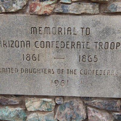 Memorial to Arizona Confederate