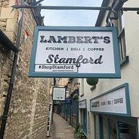 Outside Lambert's on Cheyne Lane