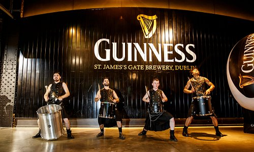 Drummers at Event in Guinness Storehouse - Dublin