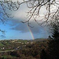 Rainbow over Llandysul