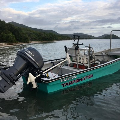 Tarponator...... the boat all flats fish in Antigua fear the most. And then we put them back!!