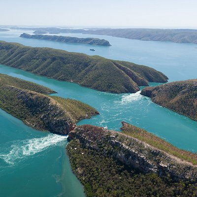 Horizontal Falls from above!