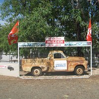 Old Holdens display you will see at Up The Creek Garage Museum in Roma Qld.