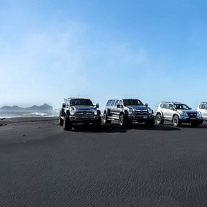 Our fleet of modified luxury 4x4 vehicles we call super jeeps consists of two brands; Ford and Toyota Land Cruiser.  Both have extraordinary capability in Icelandic conditions where we drive into the highlands, glaciers and volcanos all year round.  They are also very spacious, comfortable and safe.