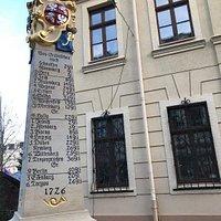 Postmeilensaule pomník Denkmal