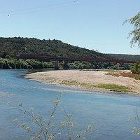 Vista sobre o encontro dos rio Tejo e Zêzere