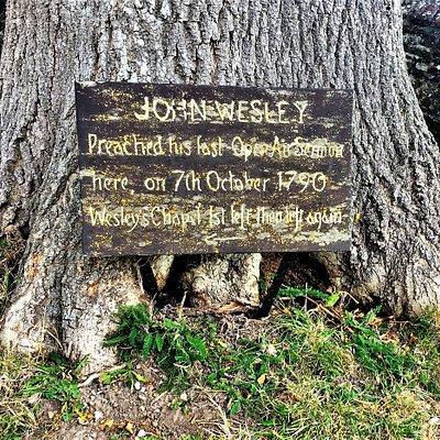 1.  John Wesley's Last Open Air Sermon Tree, Winchelsea, East Sussex