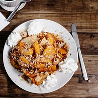Peach Cobbler French Toast