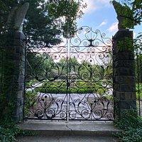 Marian Coffin Gardens gate