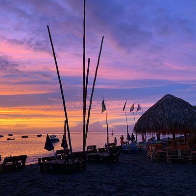 coucher de soleil au Wahoo Café