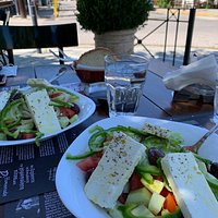 Super fresh Greek salad for lunch