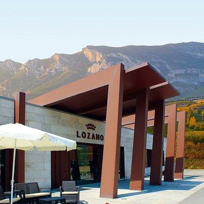 Con esta vistas de la Sierra de Cantabria desde nuestra terraza del wine bar te olvidarás de todo