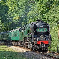 Bulleid Pacific in the Kent High Weald