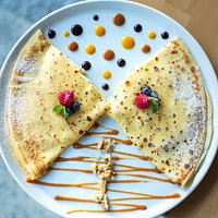 Sweet and filling, our pancake with cottage cheese,